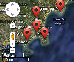 French Riviera Real Estate & Property Map